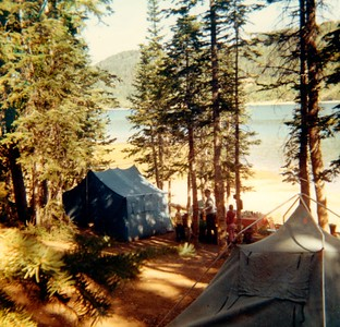 campsite at Navajo Lake