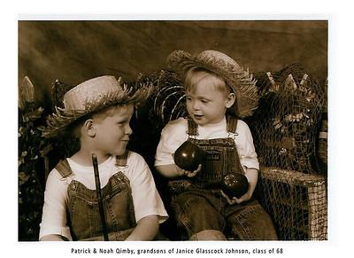 Grandsons, Patrick & Noah Qimby