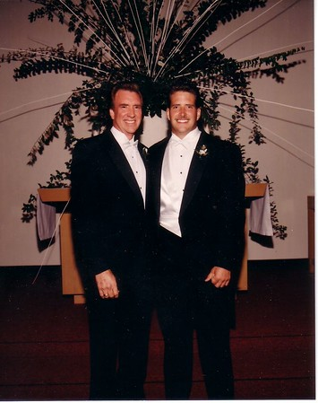DOUG EDGE SR AND DOUG EDGE JR ON DOUG JRS WEDDING DAY