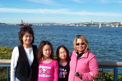 Mom, Corrinne, Kelela, Auntie Judy in San Diego