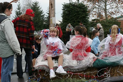 Kyra's Drill Team float in the Yelm Christmas Parade