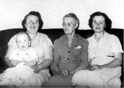 4 Generation Photo - Larry Hornbaker, Alice Hornbaker, Florence Carter, Esther Flory