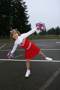 Kyra in her drill team uniform