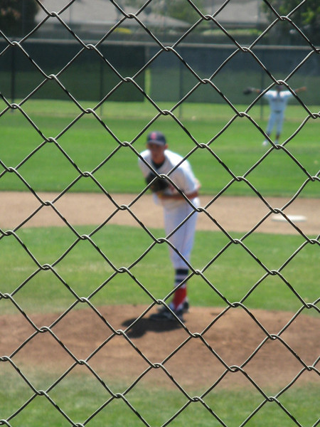 My nephew, Jake, staring down the batter before a pitch Vacation June 2010