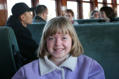 Kyra on the steam train in Strasburg, Pennsylvania