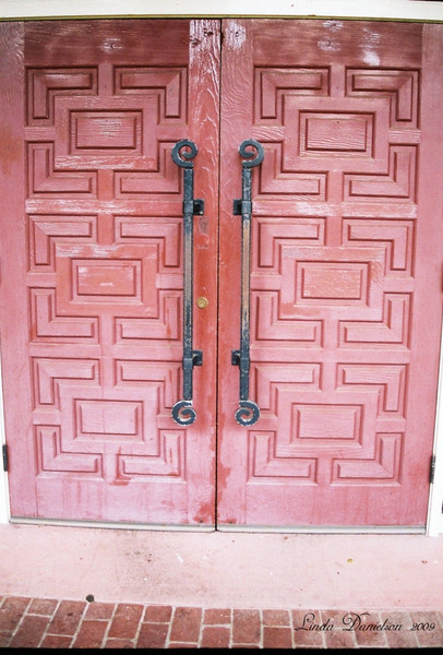 Red Door, Mission Santa Clara, est 1777<br /> Santa Clara, California July 2009