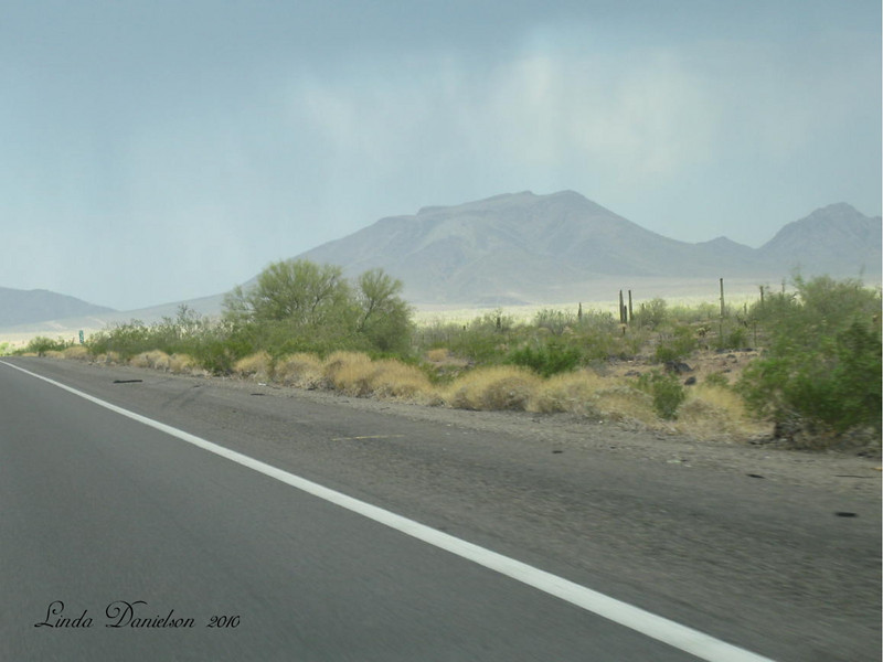 We ran into rain near the AZ/Calif border Vacation June 2010