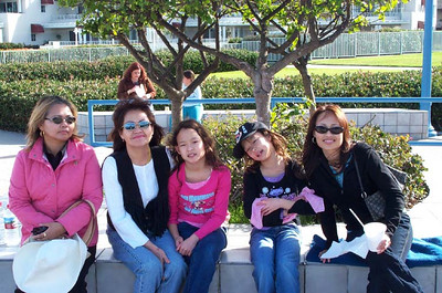 Auntie Judy, Mom, Corrinne, Kelela, and Cheryl in San Diego