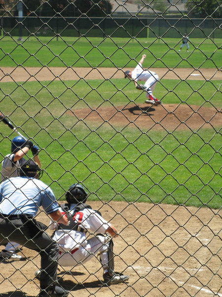 Watching Jake pitch was fascinating, the curve he gets from his throws is wicked! Vacation June 2010