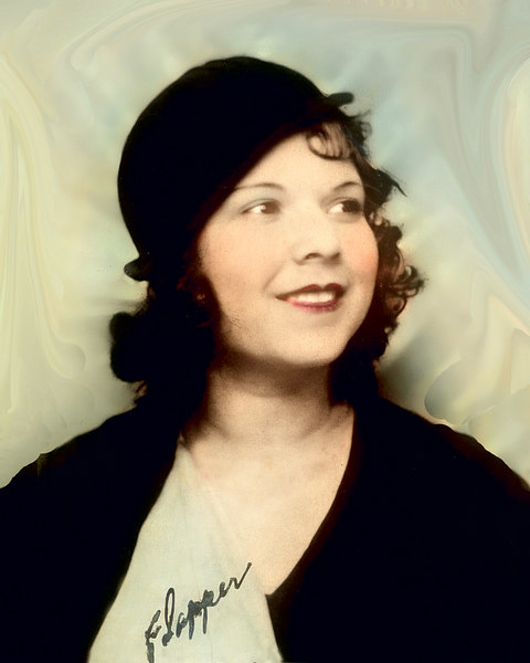 "Esther, my mother.  She actually wrote the word ""flapper"" on the photo."