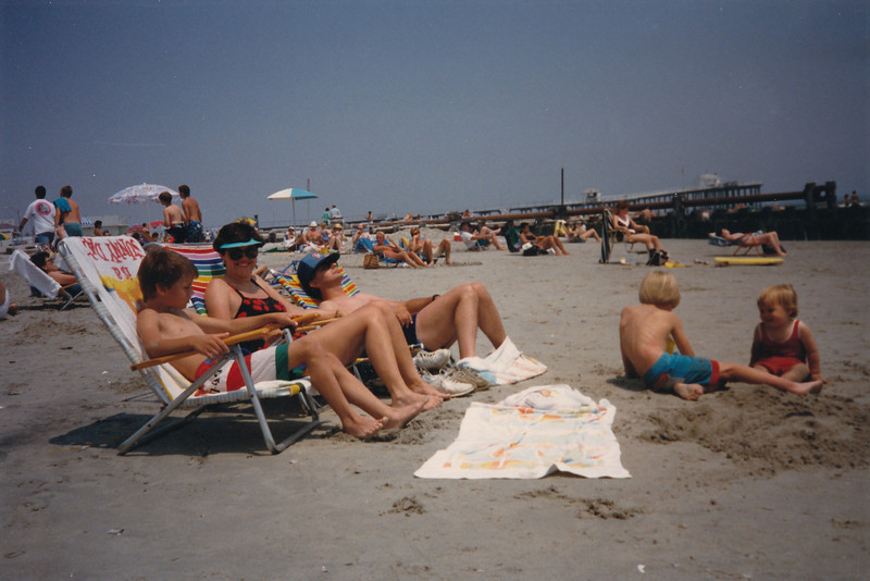 Janet, J.R., and Boys--Ocean City--May 1988