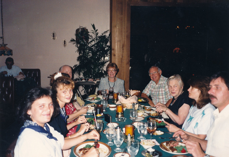 Phyllis's 60th birthday party in Lakeland--November 16, 1988--with family visiting from Wales