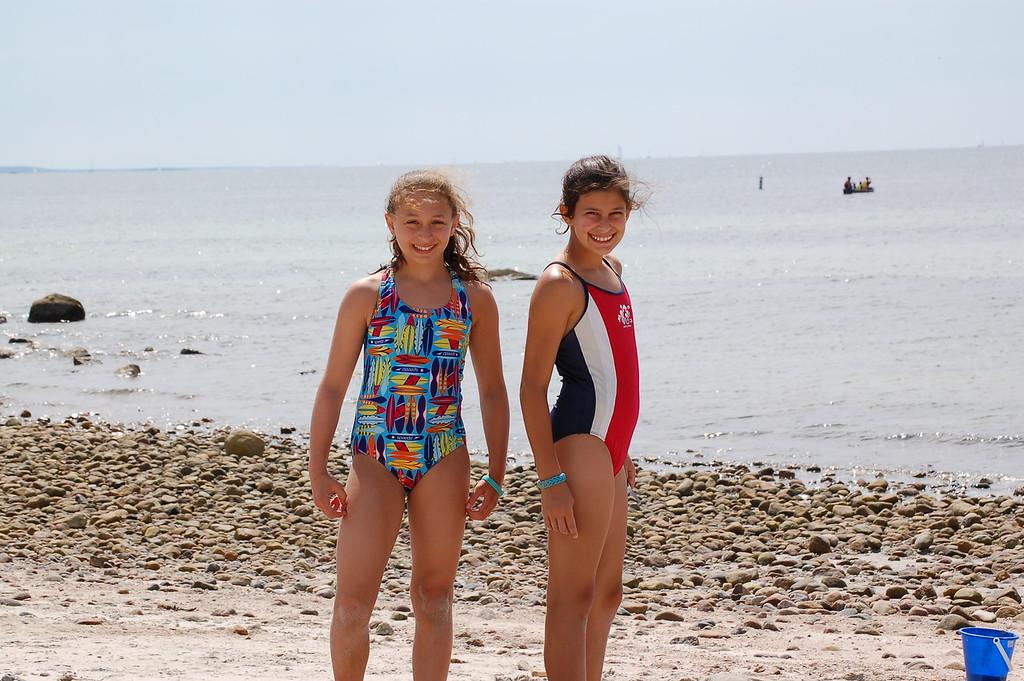 Megan and friend Jess - Woodneck beach
