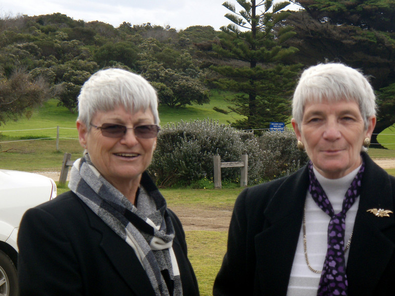 Sylvia and Muriel at Grandmother Brown's funeral (Robe, 2009).