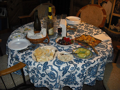 Some of the food and wine