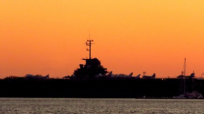 # Dawn on the USS Yorktown from Waterfront Park, Charleston, SC, march 23, 2019, 715am  IMG_7260