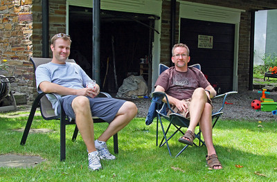 Paul and Todd relaxing