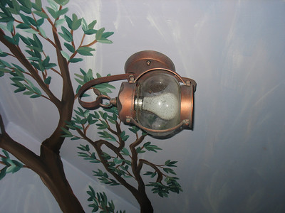 I like this wall sconce in the 3rd small bedroom
