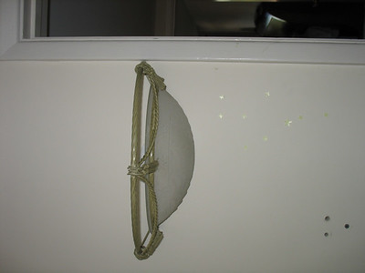 The wall sconce MUST go!!