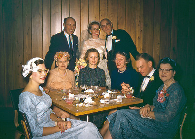 Bob and Barbara Wiedlund Wedding - 1958