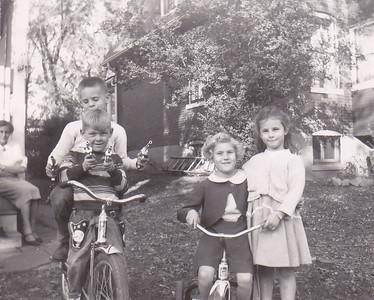 Erna Conrad, Jim Armstrong, John Conrad, Carolyn Conrad, Tammos Armstrong Fall 1954 Webster Groves, MO