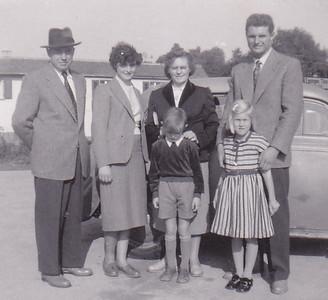 Felix Widder, Isolde Widder, Hilda Widder, Rudy Widder, Dieter Widder, Carolyn Conrad Ittlingen, Germany Summer 1954