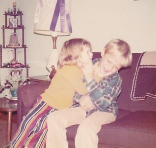 Kira kissing Carl Nov 1972