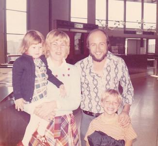 Kira, Carolyn, Chuck, & Carl at LA International Airport prior to leaving for Pittsburgh Nov 1972