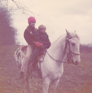 Georgeanna & Carl on Majestic Prince Nov 1972