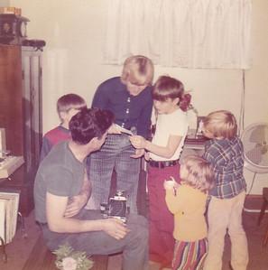 Fred, Chris, Carolyn, Doug, Carl, Kira Nov 1972