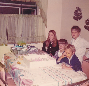Georgeanna's 15th Birthday Georgeanna, Chris, Carl, Doug (standing) Nov 16, 1972