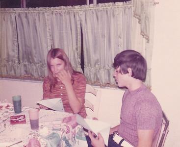 Georgeana Ansick with boyfriend Rick on 15th birthday Nov 16, 1972