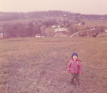 Kira behind Ansick house Nov 1972