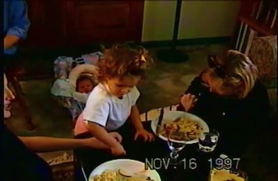 Francesca and Dominique at Home 16 Nov 97
