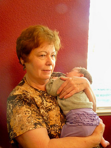 Grandma Linda holds her newest granddaughter
