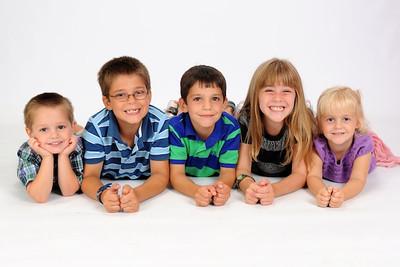 Miller(3), Austin (8), Carson (6), Sofia (7), Allegra (4)