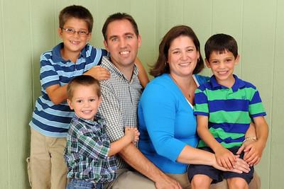Austin (8), Miller (3), Neill, Amanda and Carson (6)