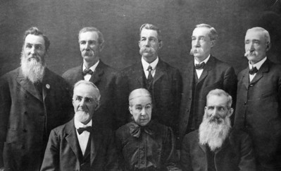 1900 Juday family: John, George, Samuel, Thomas, Bennie, Henry, Bettsy, Alfred