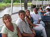 My family on a river boat ride at Brookgreen Gardens.