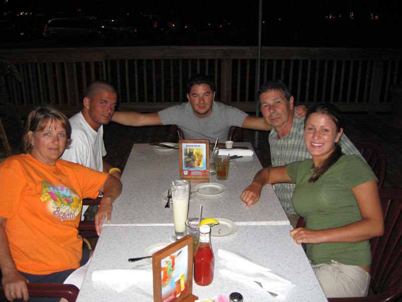 Our last dinner at Broadway at the Beach's Crab House...Mom, Adam, me, Dad and Annaliese.