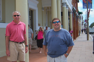 Keith and Glenn in downtown Hamilton .