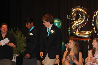 Caleb & Dhruv receiving the Headmaster's Award