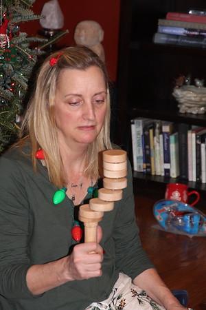 "Caroline tries the ""stacker"""