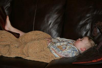 Aaron takes a nap