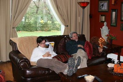 Catherine and Ed enjoy the newly decorated family room