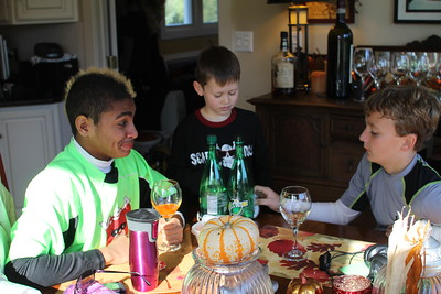 this is Jaden (Esa's son who is on Wyatt's soccer team) - they are experimenting with Mio concoctions