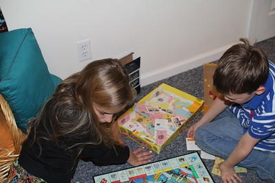Angelina & Aaron played Monopoly