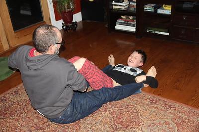Uncle Chris & Aaron roughhouse