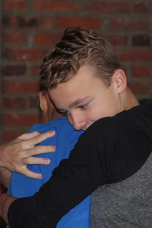 Edward IV and Wyatt take time for a man-hug