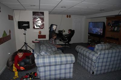 Aaron, Joey, Wyatt & Edward IV in basement